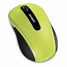 Microsoft Mouse Green Light Amazon Com Microsoft Wireless Mobile Mouse 4000 Lime
