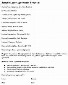 Proposal Agreement Sample Lease Agreement Proposal Template
