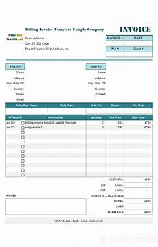 Example Invoices Templates Free Invoice Templates For Excel
