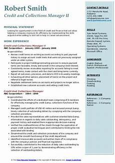 Collection Manager Resume Credit And Collections Manager Resume Samples Qwikresume
