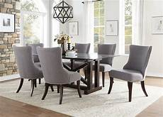 glass dining room sets transitional dining room 7 pieces rectangular glass table