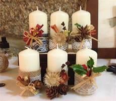 composizioni candele pin di lori su fall idee per decorazioni natalizie