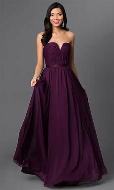 purple dresses strapless purple bridesmaid