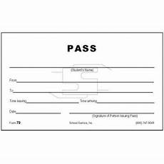 Student Pass Template 79 Student Pass Padded Forms