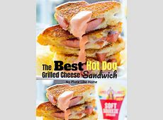 Best Hot Dog Grilled Cheese Sandwich with Dipping Sauce AD