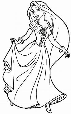 rapunzel coloring pages for visual arts ideas