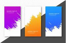 Graphic Design Templates Free Download Modern Watercolor Colorful Headers Set Template Design