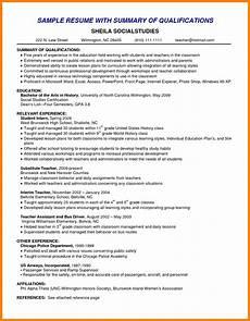 Summary Of Qualifications On Resume Resume Summary Examples