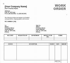 Work Order Format In Word Work Order Template Word Work Order Form Template Word