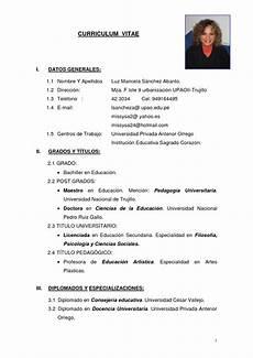 Making A Curriculum Vitae Modelo De Curriculum Vitae Modelo De Curriculum Vitae