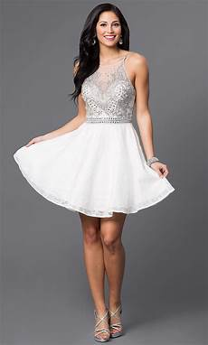 white jvn by jovani homecoming dress promgirl