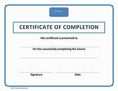 Training Certificate Of Completion Training Certificate Of Completion