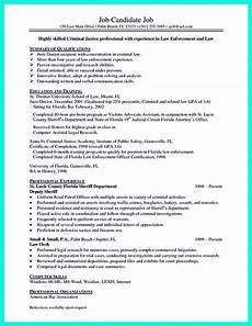 Qualification On A Resumes Criminal Justice Resume Uses Summary Section Of The