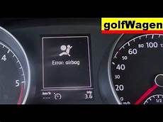 Golf Airbag Light Reset Vw Golf 7 Airbag Light Reset Youtube