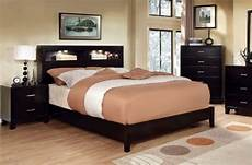 Queen Bookcase Headboard With Lights Furniture Of America Metro Platform Bed With Bookcase