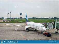 Sriwijaya Air Aircraft On Runway Of Kualanamu Medan