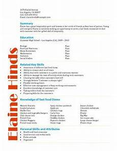 Non Fast Food Jobs For 16 Year Olds High School Student Resume Samples With No Work Experience