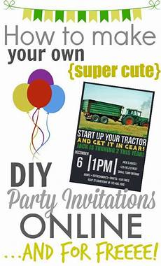 Create Your Own Invitations Online Free Printable Make Your Own Diy Printable Party Invitations The Creek