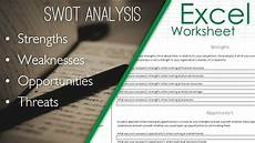 Swot Analysis Format Template Excel Sheet Spreadsheet