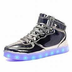 Mens Size 11 Light Up Shoes Led Shoes Women Silver High Top