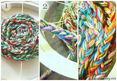 handmade finger knitted embroidery hoop craftionary