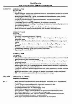 Sample Resume Copy Copy Resume Examples Best Resume Examples
