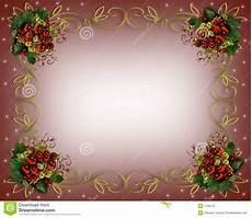 Christmas Card Borders Free Christmas Border Frame Gold Stock Illustration