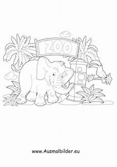 Ausmalbilder Zum Ausdrucken Zoo Ausmalbilder Elefant Im Zoo Zoo Malvorlagen