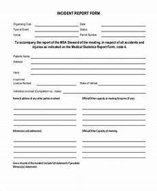 Incident Report Examples Free 12 Sample Incident Report Forms In Pdf Word