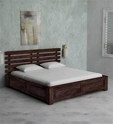 buy stigen solid wood king size bed with storage in