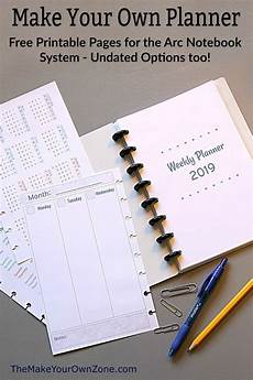 Make Your Own Weekly Planner 2019 Free Printable Planner Pages The Make Your Own Zone