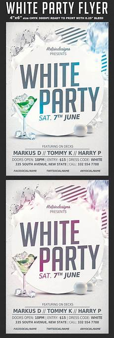 All White Party Invitations Templates White Affair Party Flyer Template Flyerstemplates