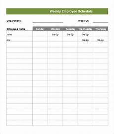 Staff Schedule Template Weekly Employee Schedule Template 14 Free Word Excel Pdf