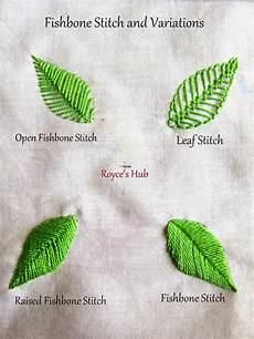 embroidery leaf royce s hub embroidery stitches for leaves fishbone