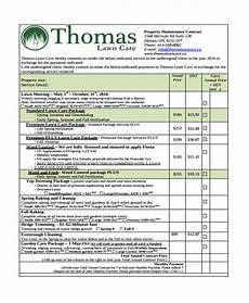 Lawn Care Contracts Samples 10 Lawn Service Contract Templates Free Sample Example