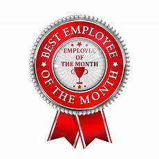 Employee Of The Month Award Best Employee Of The Month Award Stock Illustration