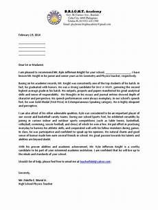 baseball letter of recommendation sample recommendation letter student