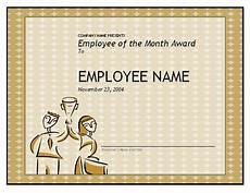 Employee Award Templates Free Free Employee Of The Month Template For Employee