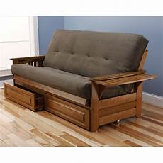 futon bed frame kodiak furniture suede storage drawers futon and