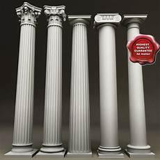 Composite Column Design Columns Set Composite 3d Model