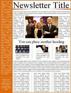 Templates For Newsletters In Word Newsletter Format Free Word Templates
