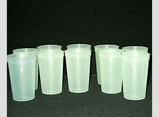 12 20 Ounce Glow in the Dark Plastic Drinking Glasses, Top