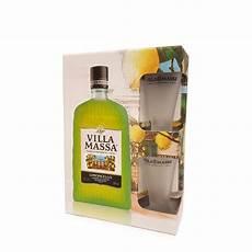 bicchieri per limoncello limoncello 0 5l con bicchiere villa massa eataly