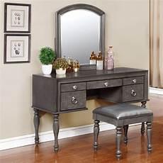 Bedroom Vanity Furniture Avalon Furniture Glam Style Vanity Set With Mirror