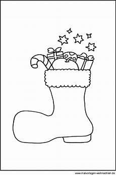 Malvorlagen Weihnachten Stiefel Weihnachtsstiefel Als Malvorlage Stifel An Nikolaus Als