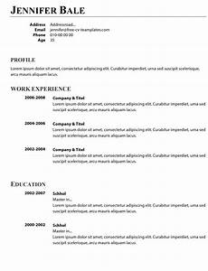 How To Make A Simple Cv Basic Cv Templates For Word Land The Job With Our Free