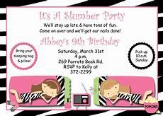 Free Printable Slumber Party Invitations Slumber Party Birthday Invitation Pajama Party Sleepover
