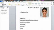 Cv Template For Cabin Crew Perfect Cabin Crew Cv Simple And Professional How To