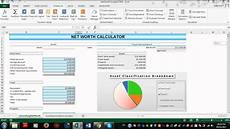 Net Worth Excel How To Use Net Worth Calculator Spreadsheet For Excel