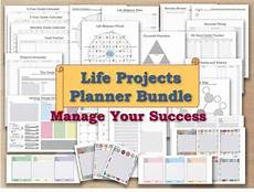 life planner template project planner life organizer kit and cards plan template